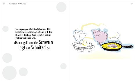 Das Schwein legt das Schnitzel von Ulrike Klaus